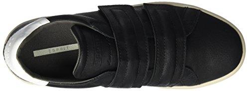 ESPRIT Gunda Velcro, Scarpe da Ginnastica Basse Donna Nero (Black)