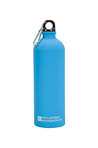 mountain-warehouse-botella-de-acabado-metalico-mate-de-1-litro-con-mosqueton-turquesa-talla-unica