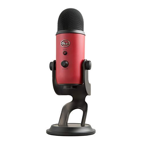 Logitech Blue Microphones Yeti USB-Mikrofon (für Aufnahme und Streaming auf PC und Mac, Game-Streaming, Skype-Anrufe, Youtube-Streaming, Plug-und-Play) Satin Rot