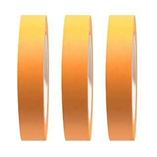 3er-Set Premium Goldband Fineline Tape Abdeckband 50 mm UV beständig 3 Rollen á 50 m