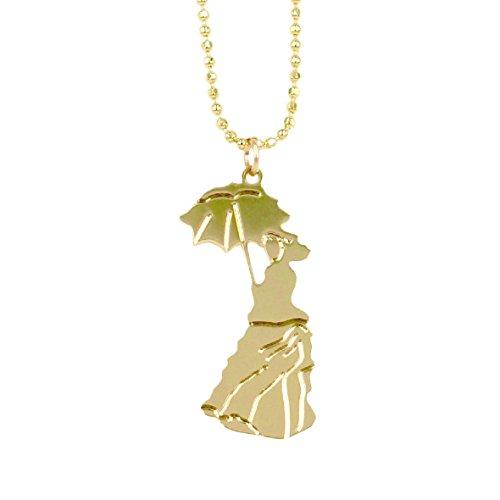 'Mein kleines Museum–Gold Gold, das Ende, Halskette Anhänger 'Frau an der Sonnenschirm...