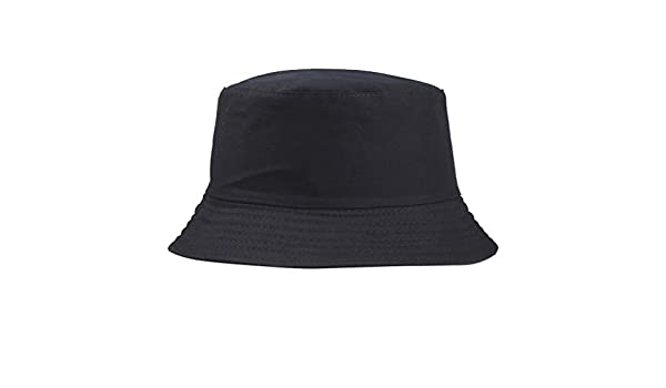 Chowceng Cotton Men Women Summer Fishing bucket Cap sun Hat Solid Color Fisherman Beach Festival Sun Cap Bucket Cap
