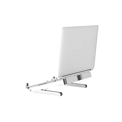 Laptop-Ständer, verstellbar faltbar tragbar Desktop Notebook Stand Travel Halterung, leicht platzsparend Ergonomisches Design, Universal verstellbares Tablett Halterung für Macbook/Laptop/Notebook Com