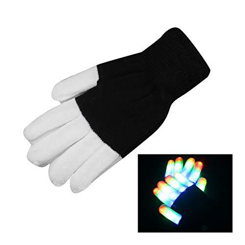 anzhandschuh-Partei-Licht-Show Handschuhe Blinkmodi für Halloween-Party ()