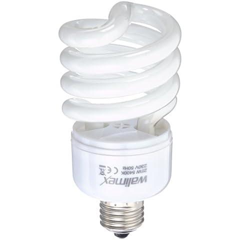 Walimex 12803 - Luz diurna espiral de 25 W para fotografía de estudio y productos, blanco
