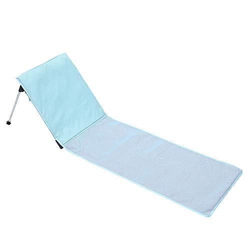 ZJY Tragbare Klapp Strandliege Stuhl Matratze Liege Leicht zu tragen Atmungsaktives Mesh mit Rückentasche Aufbewahrungstasche Geeignet für den Außenbereich Camping