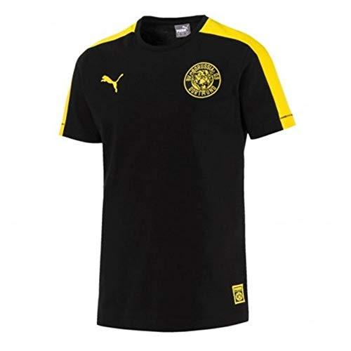 Puma BVB T7tee–Camiseta, Hombre, 754104, Puma Black, Large