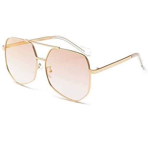 JFFFFWI Ofgcfbvxd-gla Stilvolle Sonnenbrille für Frauen Aviator Polarized Metal 100% UV-Schutz Sonnenbrille Frauen Männer Retro-Marke Sonnenbrille UV-Schutz Sonnenbrille (Farbe: Gold, Größe: Casual