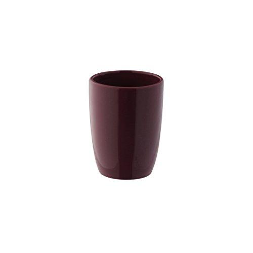 axentia Zahnputzbecher Pisa bordeaux, hochwertig verarbeiteter Zahnbürstenhalter aus Keramik, Bürstenständer mit modernem und schlichtem Design, Zahnbürstenständer mit schöner Farbe