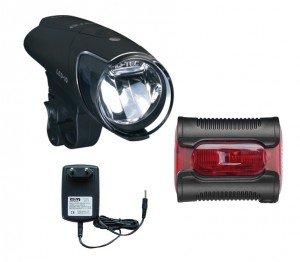 LED-Akkuscheinw. Set b&m IXON IQ Premium inkl. Akkus & Ladegerät+Ixback senso Bm Amp