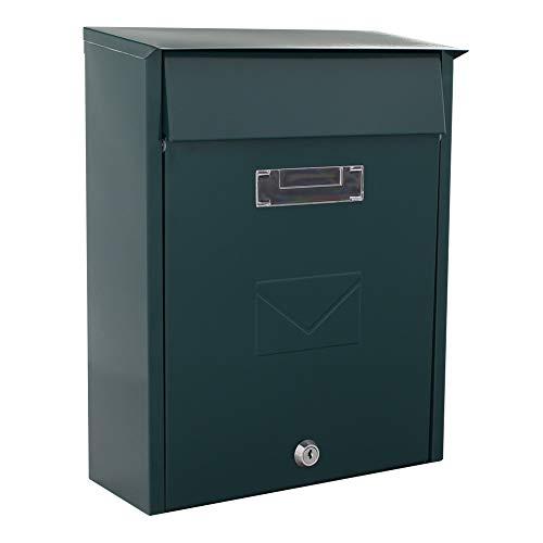 Rottner Briefkasten Tivoli , Stahlblech, Braun, Postkasten, DUO-Briefkasten, Zwei Einwürfe, Zylinderschloss -