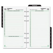 Dated Two-Page-per-Day Organizer Refill, 3-3/4 X 6-3/4 Inches, 2015 (DTM108011501) by Day-Timer (Daytimer Refills 2015)