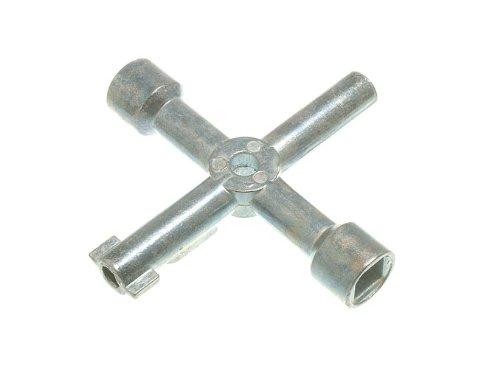 Lot de 20 Plombiers Multi-clés de l'utilitaire Outil 4 Way Gas compteur électrique Box Radiateur