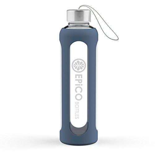 EPiCO BOTTLES Sport Botella Cristal 550 ml | Botella de Vidrio Deporti
