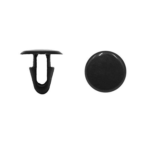 sourcingmap® 30 Stk schwarz Auto Halter Teppich Fußmatte Clip Niet Verbindungselemente 7 mm Bohrung