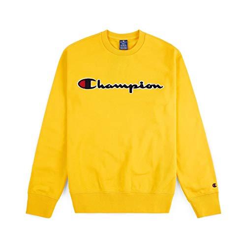 Champion Crewneck Sweatshirt Größe XL Yellow (Champion Pullover)
