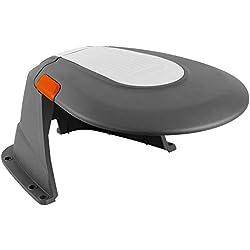 Abri pour robot tondeuse GARDENA: garage pour robot tondeuse à gazon, protection contre le soleil et les intempéries, couvercle à charnière, résistant aux intempéries, avec vis de montage (4007-60)