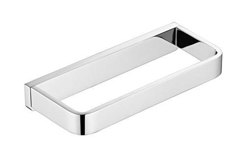 Flybath geschlossen Handtuchring massivem Messing verchromt Handtuchhalter Wand montiert Silber quadratisches Zubehör -