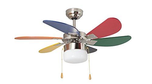 Orbegozo CC 65085 6 palas multicolor, diámetro 85 cm, potencia de 55 W y 3 velocidades