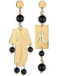 Lebole Gioielli orecchino Kimono Mini argento e pietre naturali