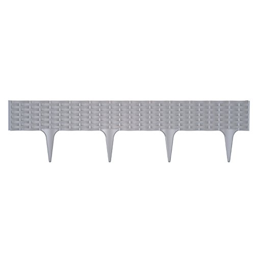 Prosper Plast ibra-405u 390x 18,65mm cm Garten Grenze–Stein grau (5)