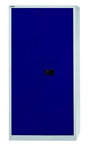 Bisley Garderobenschrank abschließbar in grau blau Metallschrank Stahlschrank Werkzeugschrank...