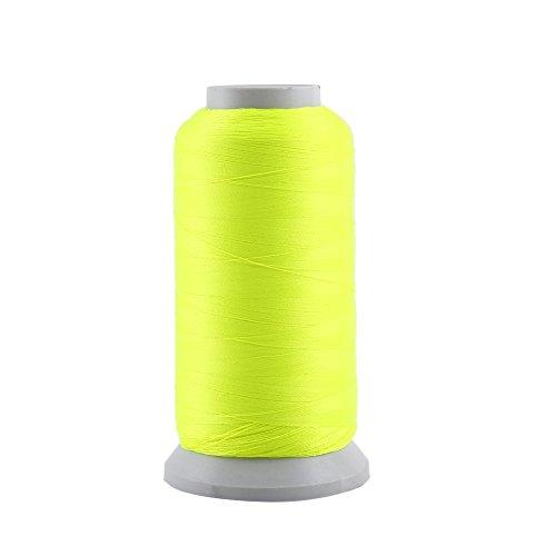 Glow in The Dark Stickerei Nähgarn für Lederhandwerk Nähen Handarbeit machen DIY(3000 Yards-gelb) ()