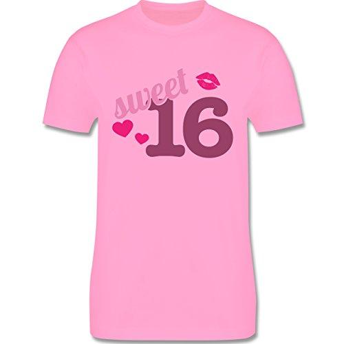 Geburtstag - Sweet 16 - Herren Premium T-Shirt Rosa