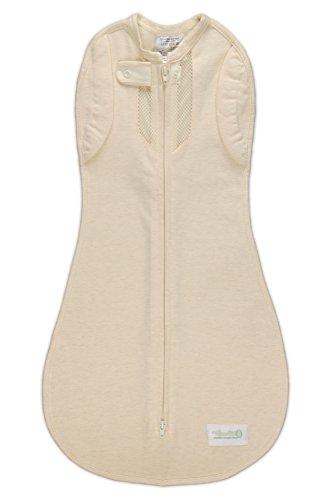 Wechsel-Pucksack Woombie Freier Vogel - idealer Baby-Pucksack zur Entwöhnung - abnehmbare Ärmel - atmungsaktiv (MIT Netzstoff auf Brusthöhe) - für Neugeborene von 0-3 Monaten mit einem Gewicht von 2,5 bis 6 kg