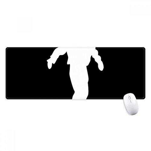 beatChong Sport Skateboarden Schwarz Silhouette Griffige Mousepad Große Erweiterte Spiel Büro titched Kanten Computer-Mat Geschenk