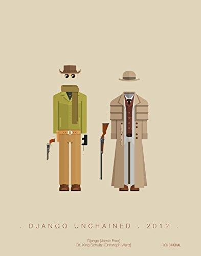 Kostüm Django - Fred Birchal Kunstdruck von Django UNCHAINED-2010 Kostüm, gedruckt auf 300 g/m² Papier, mit Rahmen, ohne Passepartout