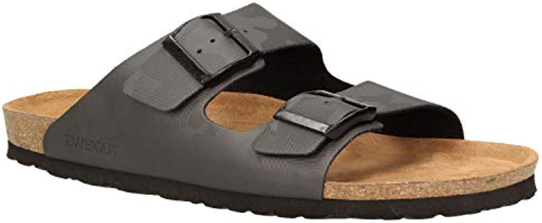 Zweigut luftig #532 - Sandalias de Vestir de Material Sintético para Hombre