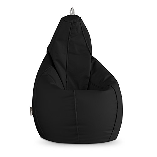 HAPPERS Puff Pera Polipiel Outdoor Negro XXL