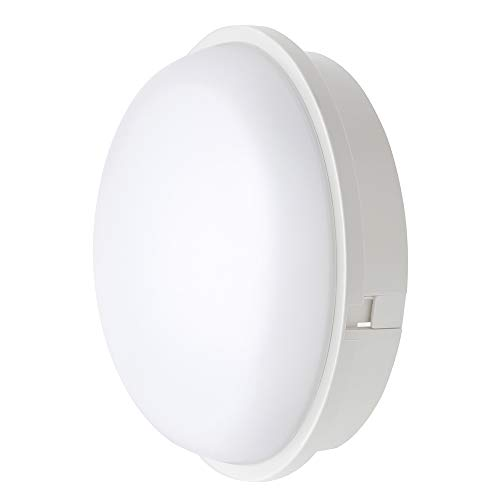 Chestele lampe LED Hublot Rond Plafonnier Applique Éclairage Luminaire, 20W 3000K 1600LM IP65, Pour l'Intérieur et l'Extérieur - Blanc