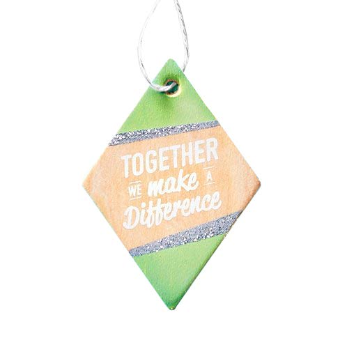 Baudville Trendiger Weihnachtsbaum aus Holz - Together We Make A Difference - Budget Employee Apputation and Recognition Year End Geschenk