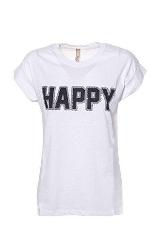 Miamata Woman T-Shirt Happy 28408 XS/s White
