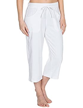 Causeway Bay mujer forrado Informal Corto 3/4 Pantalones Con Bolsillos Tallas 10-18