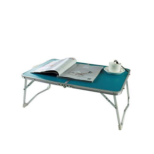 Wghz Horse Kick Leg Klapptisch Faltbare Einfachheit Laptoptisch Tragbarer Klapptisch Schlafsaal Faules Lernen Kleiner Schreibtisch (Farbe: Blau Grün) - Kick Falten