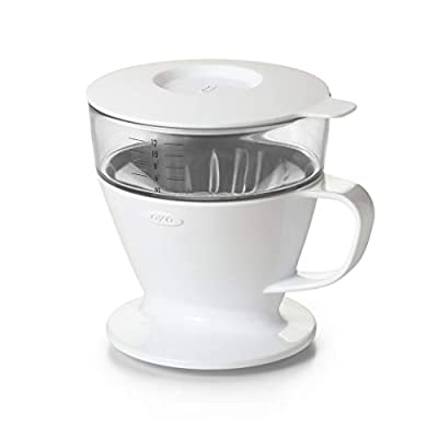 OXO Good Grips Pour Over Coffee Maker with Water Tank, White