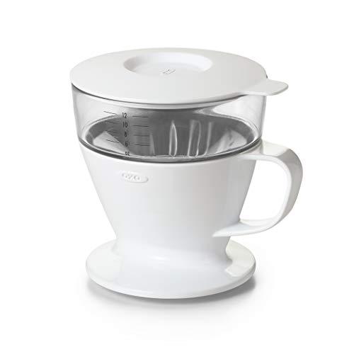 OXO Good Grips Kaffeebereiter, Edelstahlfilter, Glas-Karaffe, Silikondichtung, Schwarz