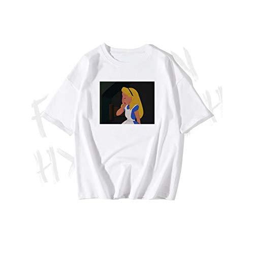 c21055701 WDFSER Cool Funny T-Shirt Tees Tops Casual Tamaño Harajuku Graphic Tees  Mujeres 90S