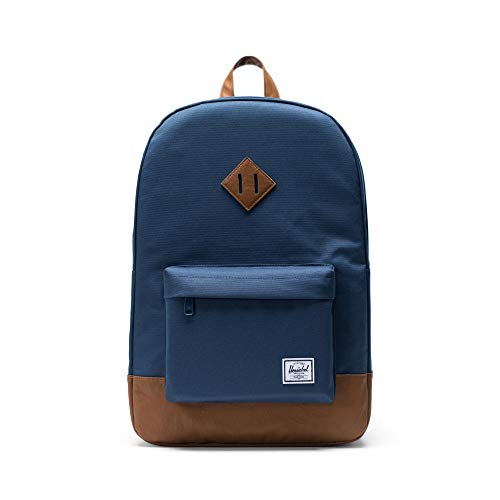 Herschel Heritage Backpack Mochila Tipo Casual, 46 cm, 21.5 Liters, Azul (Navy/Tan)