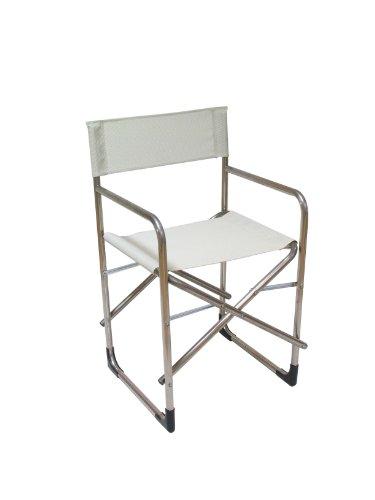 fiam 005TX BIBE Fauteuil Metteur en Scène de Jardin Aluminium Blanc/Beige 51 x 51 x 83 cm