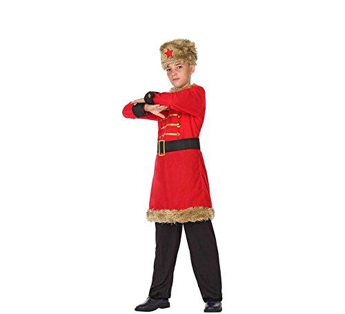 ATOSA 56812 Russe Kostüm für Jungen Costume Russian Man 10-12, Rot/Schwarz, 10 a 12 años