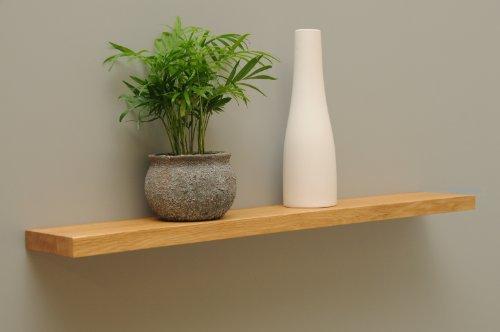 Wandbord Wandboard Design Livingboard Regal massiv Holz - verschiedene Holzarten wählbar - Tiefe:13cm Dicke:25mm (Eiche, 100cm)