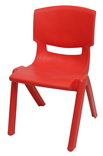 Happy Kids Strong and Durable Kids Plastic Chair (Small, Red)