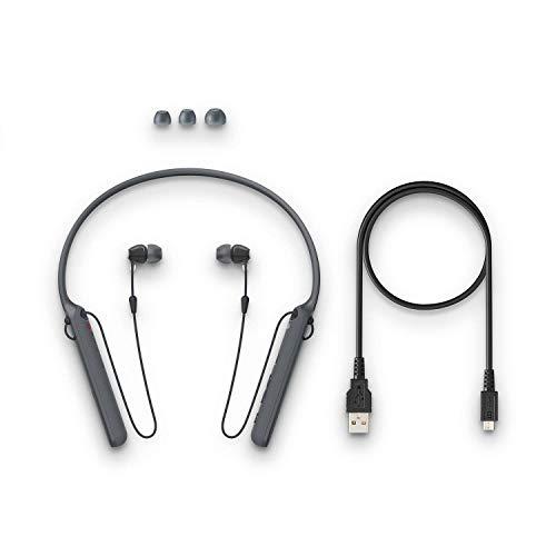 (Renewed) Sony - C400 Wireless Behind-Neck in Ear Headphone Black (WIC400/BZ) Image 5