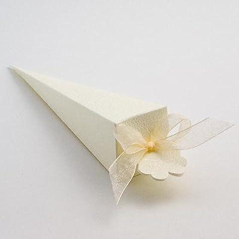Cono favor de la boda–suave (PK 10en embalaje plano, sin decoraciones)