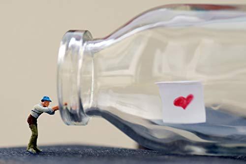 flaschen verschicken Coole schöne Postkarte meiner Foto-Kunst - Liebes-Brief in Flaschenpost angeln Liebe Freude zum Verschicken und Verschenken von Fotografin aus Berlin