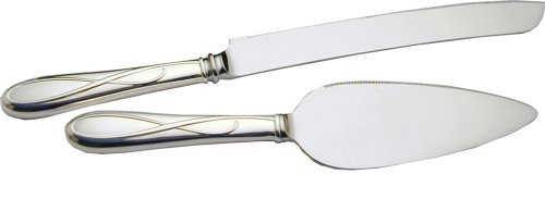 Waterford Ballet Ribbon Silver-plated 2-Piece Cake Set by Reed & Barton (Reed Und Barton Besteck)